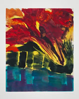 Monotype titled - Fire in the City 1