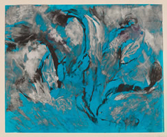 Monotype titled - In the Blue Sea