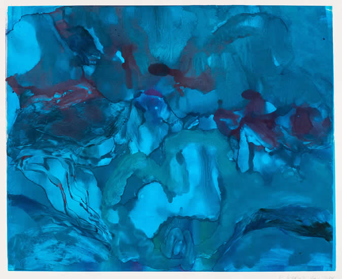 Monotype titled - Night Sea