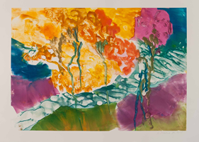 Monotype titled - River, 4: Easter