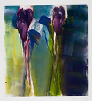 Monotype titled - Fallling Flowers, 16
