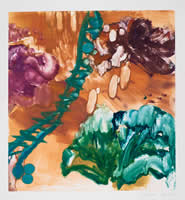 Monotype titled - Fallling Flowers, 23