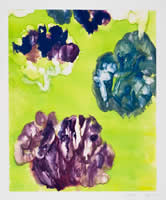 Monotype titled - Falling Flowers, 24