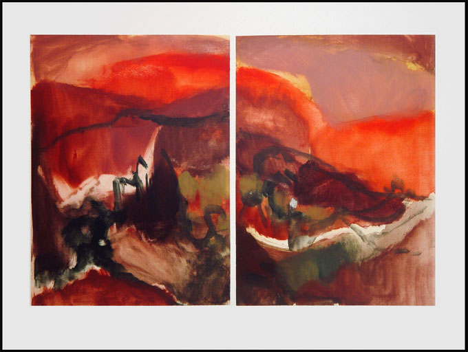 Monotype titled - Spanish Landscape, 1, 2007