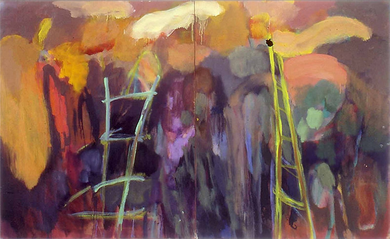 painting titled - Ladders